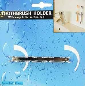 Porte brosse à dent en inox avec ventouses