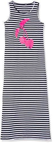 NKFVIPPA SL Maxi Dress NOOS Kleid, Weiß (Bright White Print: Cherry), (Herstellergröße: 152) ()