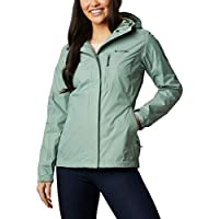 Columbia Pouring Adventure II, Chaqueta impermeable, Mujer, Verde (Light Lichen), M