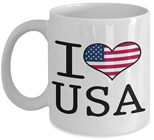 I love Herz USA Vereinigten Staaten von Amerika Flagge Design Geschenk Tasse