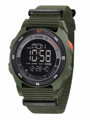 KHS Tactical Mens Watch Sentinel DC Olive | Nato Olive Chronograph KHS.SEDCO.NO