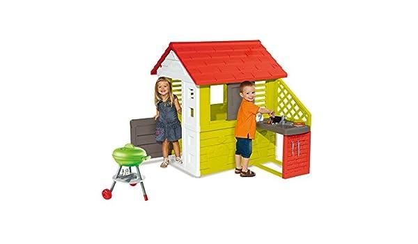 Spielhaus Mit Sommerküche : Ideal trend smoby spielhaus naturhaus mit sommerküche grill