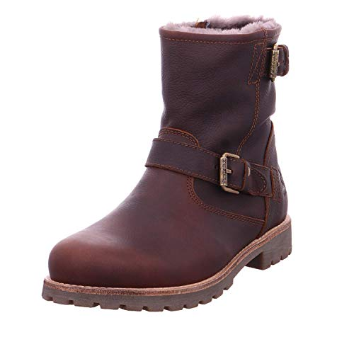 PANAMA JACK Herren Winterstiefel Faust Igloo,Männer Winter-Boots,Fellboots,Lammfellstiefel,Fellstiefel,gefüttert,warm,Kastanienbraun,EU 46