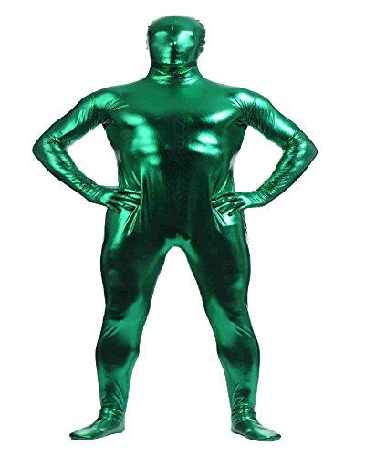 Shiny Ganzkörperanzug Ganzkörperanzug Anzug Suit Kostüm Grün S