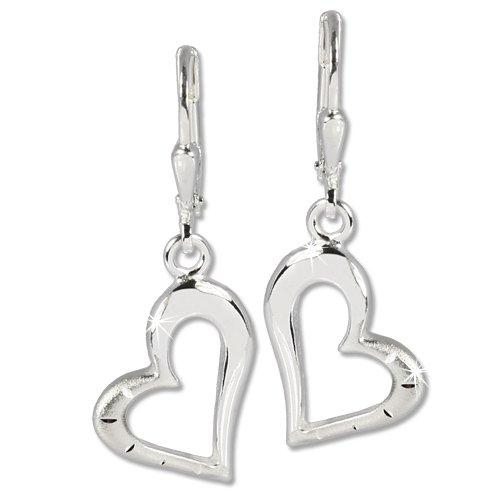 Silberdream Damen-Ohrhänger Herz Ohrring 925 Sterling Silber Sdo504