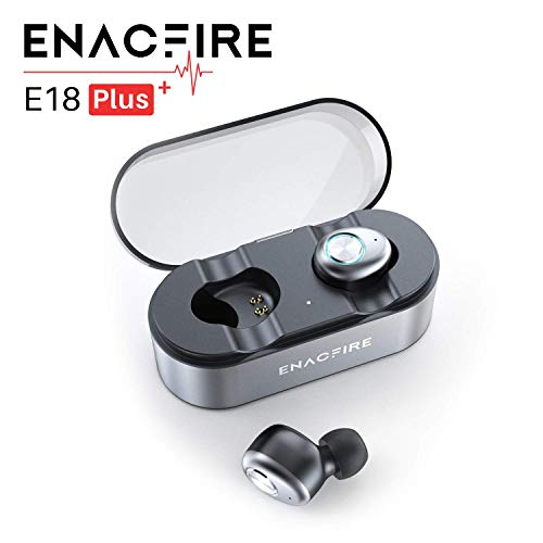 Auriculares Bluetooth, ENACFIRE E18 Plus Auriculares inalámbricos Mini Twins APTX HD In-Ear Sport...