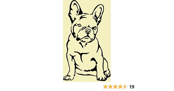 Beschriftungsspezi Aufkleber Autoaufkleber Französische Bulldogge Nr 3 Mit Original Patentiertem Gucken Aufkleber Schwarz Auto
