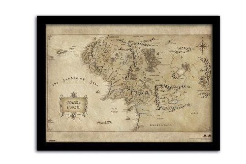 the-hobbit-carte-de-la-terre-du-milieu-encadree-format-a3