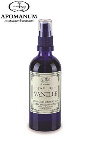 Parfum d'ambiance « Eau de Vanille » - Eau parfumée Apomanum - Durée de conservation : 6 mois - Vaporisateur avec de la véritable vanille bourdon de Madagascar Sans colorants ni additifs synthétiques
