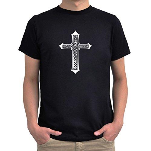 Maglietta Cool cross religion Nero