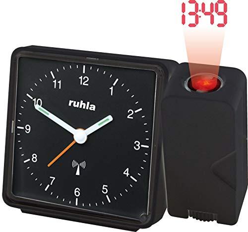 RUHLA Funkwecker analog mit Projektion und Netzteil RC 505-1