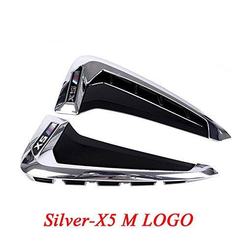 2x ABS Auto Front Fender Seite Air Vent Cover Trim für X Serie X5F15x5m F85Shark Kiemen Seite Vent KFZ Aufkleber Zubehör (Aufkleber Kfz-zubehör)