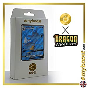 Kingdra-GX 66/70 Full Art - #myboost X Sun & Moon 7.5 Dragon Majesty - Box de 10 cartas Pokémon Inglesas