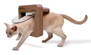 Petporte Smart Flap-Microchip Cat Flap Wall Mount, UK, Brown by PETLR