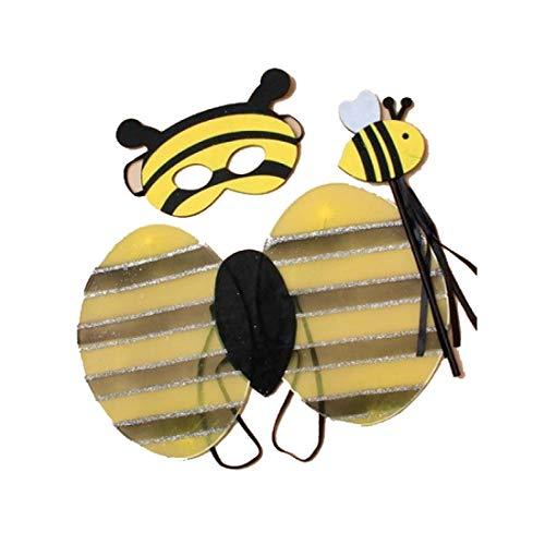 Islander Fashions M�dchen Biene Vogel Verkleidung Kost�m Hen Night Party Kost�m Zubeh�r (Bee Set) One Size (Frauen Kostüme Bee Für Bumble)