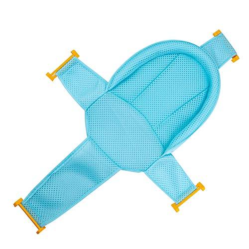 Baby Bath soporte del asiento de malla recién nacido ducha para bañera ajustable cómodo asiento antideslizante de baño para bebé azul 1PC