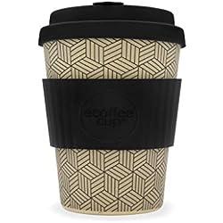 Patrón geométrico ecoffee CUP ? Aspecto Into My orificios? 12oz L / 340 ml ? reutilizable Bambú Taza de café