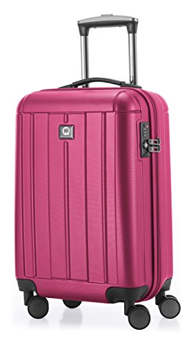 HAUPTSTADTKOFFER - Kotti - Valigia bagaglio a mano 56 cm, Trolley rigido, leggero, ABS, TSA, 37 litri, Rosa