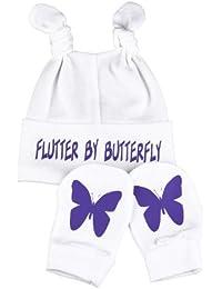 Spoilt Rotten - Butterfly Knotenmütze & Kratzhandschuhe Babyset