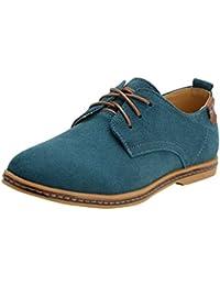 YiJee Hombre Talla Extra Ocio Zapatillas Cordones de los Oxfords Zapatos