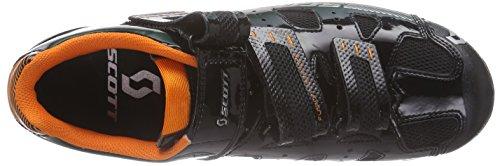 Scott MTB Comp Herren Radsportschuhe - Mountainbike Schwarz (Black Gloss/Orange)