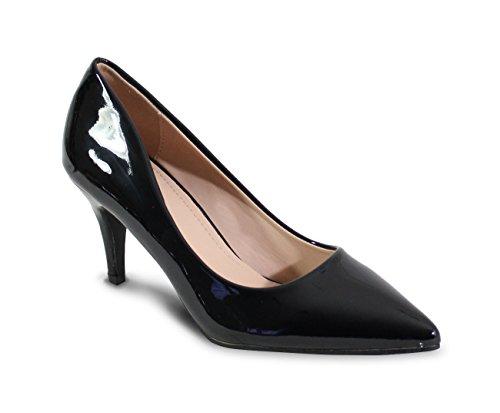 By Shoes - Escarpin Talon Bas Style Vernis - Femme -...