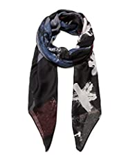 Idea Regalo - Desigual Foulard Roots Sciarpa, Nero (Denim Dark Grey 2070), Unica (Taglia Produttore: U) Donna