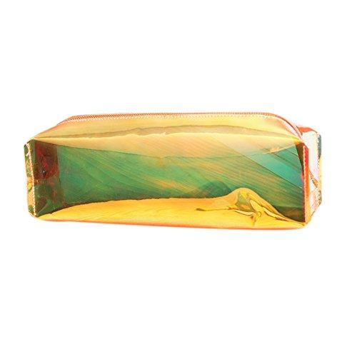 Material Handtaschen (fablcrew Laser-Handtasche bunter transparent Tasche von Kosmetika 20* 9* 6cm 20 X 9 X 6cm orange)