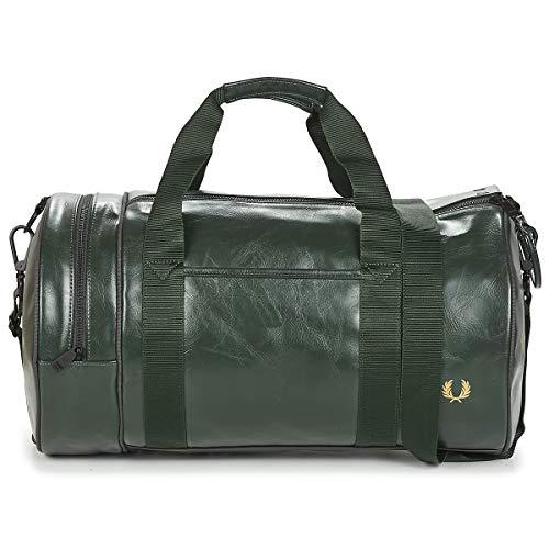 Fred Perry Tonal Barrel Bag Sacs de Sport Hommes Vert - Unique - Sacs de Sport