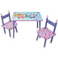 Preisvergleich für Unbekannt Fun House pat' Patrouille Mädchen Tisch mit 2Stühle für Kinder, MDF/Metall, 60x 40x 44cm