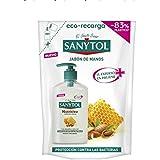 Sanytol - Eco Recarga de Jabón de Manos Nutritivo Antibacteriano, con Almendras y Miel - Envase de 200 ml
