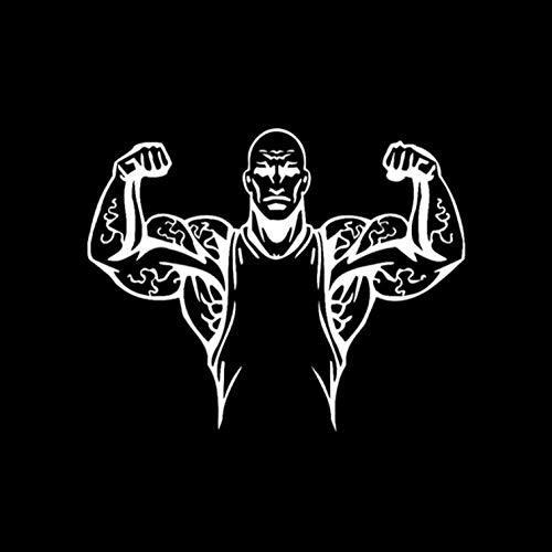 Fahrzeug Autoaufkleber 13,4 * 10,8 CM Mode Fitness Muskeln Auto Aufkleber Stoßstange Fenster Dekor Zubehör Silhouette Vinyl 2 Stück