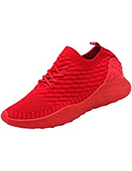 on sale 9590c 5fecf Chaussures de Marche Hommes Slip on Chaussettes Sneakers de Course Knit  Sport Jogging Baskets Low Top