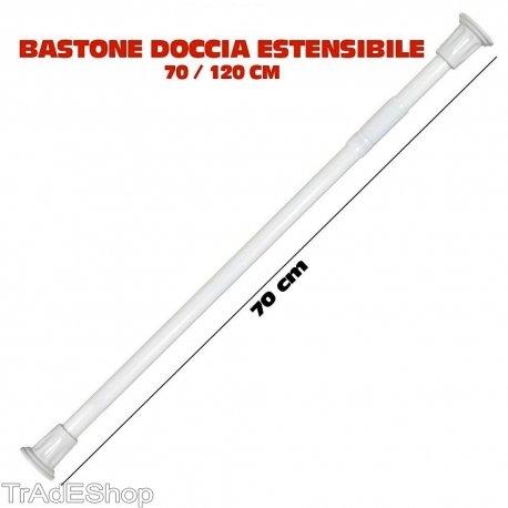 Trade shop traesio bastone asta telescopica per doccia tenda armadio estensibile da 70 a 120 cm