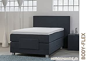 boxspringbett body flex seniorenbett inkl motor 100x200 wei k che haushalt. Black Bedroom Furniture Sets. Home Design Ideas