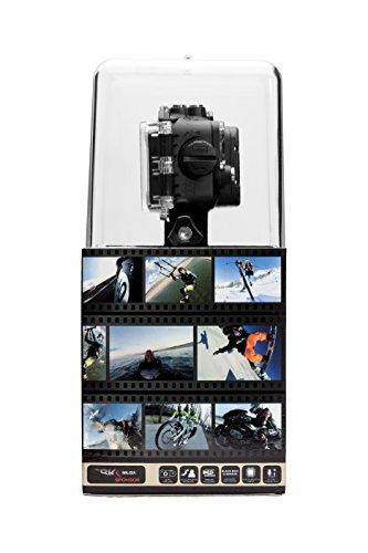 Nilox F-60 Evo Action Cam, Video Full HD 1080p a 60 Fps, Foto 16 Megapixel, Display TFT da 2 Pollici, Wi-Fi, Nero