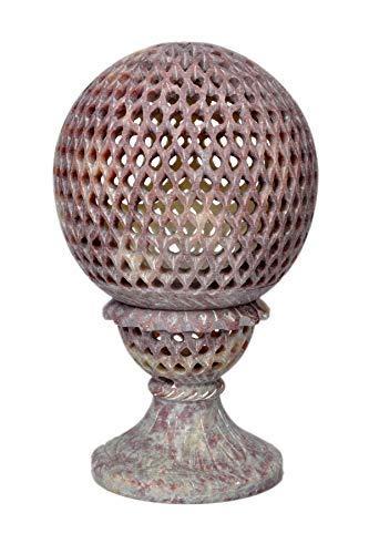 Hashcart Teelicht Halter, Votivkerze Halter Dekorative aus Speckstein mit Schnitzerei mit Ständer für Home Décor