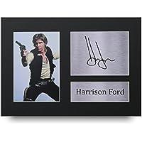 HWC Trading Harrison Ford Geschenke Unterzeichneten A4 Gedrucktes Autogramm Star Wars Han Solo Druck-Foto-Bilderanzeige