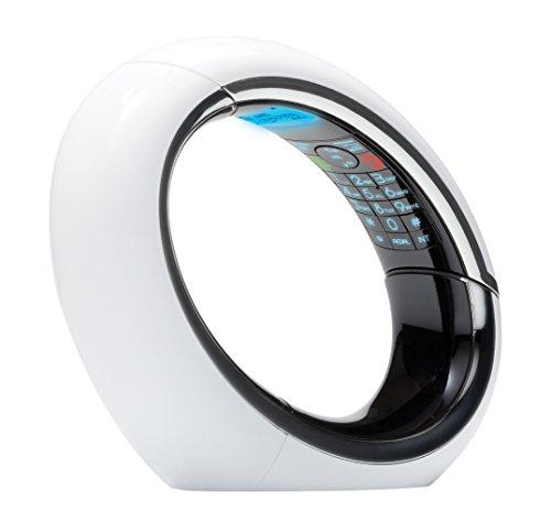 AEG Eclipse 15 - Teléfono fijo digital (contestador, inalámbrico, pantalla LCD), blanco