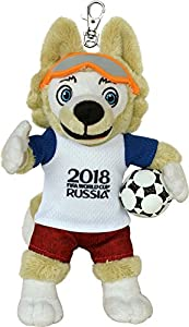 FIFA 2018 Mascota oficial 100240 Zabivaka, (Mundial de fútbol 2018), peluche con colgante 18cm, unisex, para niño