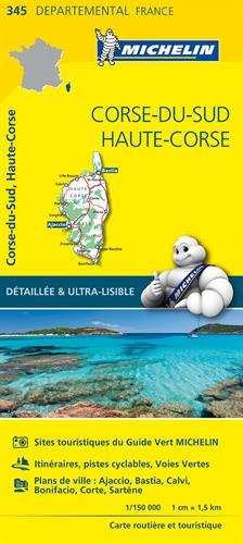 Carte Corse-du-Sud, Haute-Corse Michelin par Collectif Michelin