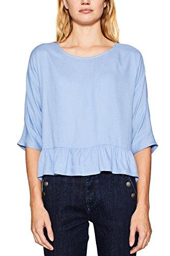 ESPRIT Damen Bluse 117EE1F011, Blau (Blue Lavender 425), 38