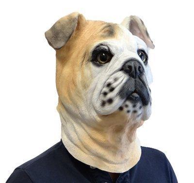 Bulldog Latex Maske Mask Animal-Kostüm