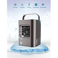 Climatiseur Portable Ventilateur Mini Climatiseur Humidificateur Purificateur Mobile Refroidisseur D'air Ventilateur évaporatif Ventilateur USB Climatiseur Réglable d'Espace 5 EN 1Mini Climatiseur