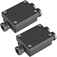 parlat Cable-conector doble para el exterior, Muffe para 6-8mm cable IP68, 2 UDS