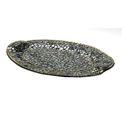 Addison Mosaic Large Platter Blue/Silver/Gold