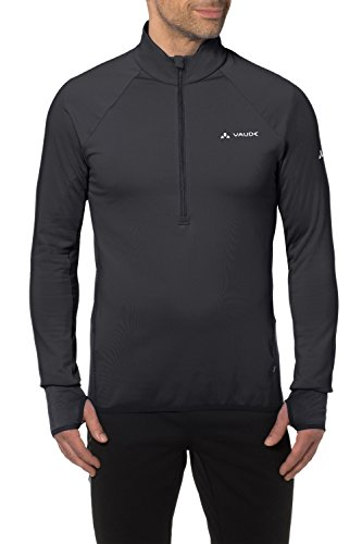 Vaude Herren Pullover Livigno Halfzip 4279, Pullover, schwarz (Black), XXL
