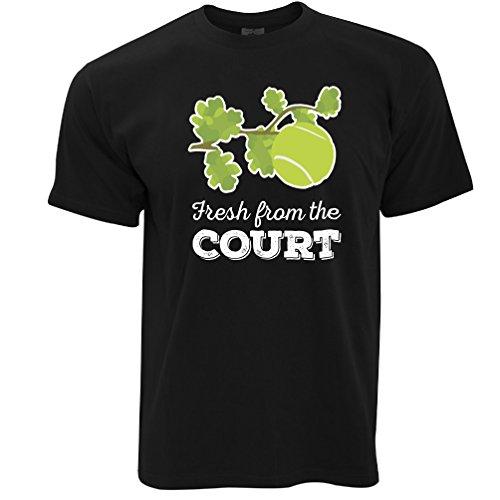 Frisch vom Hof Tennis Herren T-Shirt Black