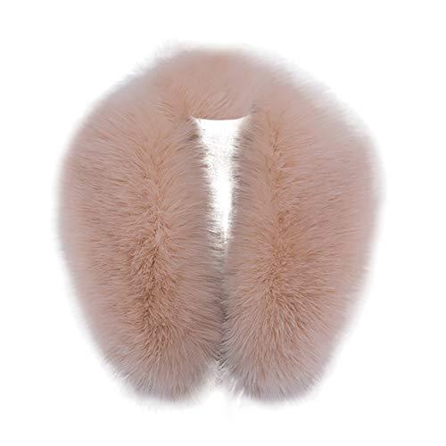 Cuello de piel sintética Capucha Cuello Más cálido Invierno para abrigo Chaqueta...