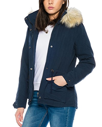 Only Onlstarlight Aw Fur Cc Otw, Parka Donna blu navy